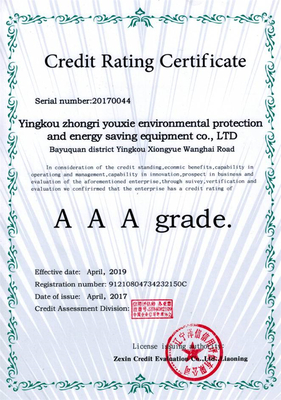 AAA grade.Credit Rating Certificate